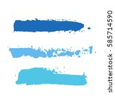 realistic color vector brush... | Shutterstock .eps vector #585714590