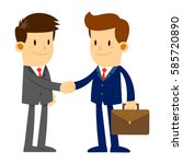 vector stock of two businessman ... | Shutterstock .eps vector #585720890