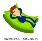 vector stock of a businessman... | Shutterstock .eps vector #585720944