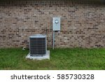 air conditioning unit on... | Shutterstock . vector #585730328
