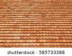 Tile Roof Of Old Texture...