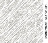 tribal seamless pattern. vector ... | Shutterstock .eps vector #585734684