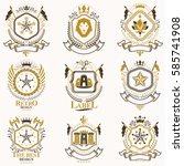 vector classy heraldic coat of... | Shutterstock .eps vector #585741908