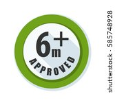 six month baby approved sign... | Shutterstock .eps vector #585748928