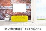 beautiful living room interior...   Shutterstock . vector #585751448