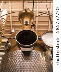 a photo of a whiskey distillery.... | Shutterstock . vector #585752720