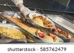 full lunch service station | Shutterstock . vector #585762479