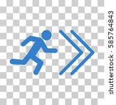 exit direction vector pictogram.... | Shutterstock .eps vector #585764843