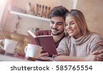 young loving couple  students ...   Shutterstock . vector #585765554