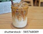 caramel macchiato | Shutterstock . vector #585768089