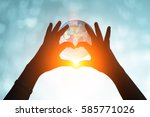 Hands In Shape Of Love Heart....