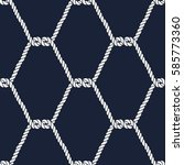 seamless nautical rope pattern. ... | Shutterstock .eps vector #585773360