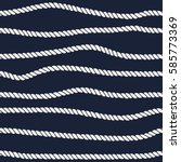 marine rope line seamless... | Shutterstock .eps vector #585773369