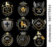 collection of vector heraldic... | Shutterstock .eps vector #585775514