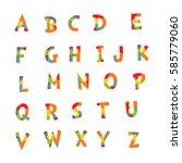 colorful alphabet letters | Shutterstock .eps vector #585779060