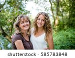 senior smiling woman with... | Shutterstock . vector #585783848