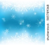 snowflake on background and in... | Shutterstock .eps vector #585789368