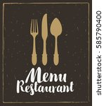 vector restaurant and cafe menu ... | Shutterstock .eps vector #585790400