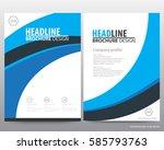 abstract vector modern flyers...   Shutterstock .eps vector #585793763