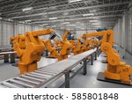 automation industry concept... | Shutterstock . vector #585801848