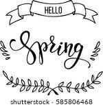 original hand lettering hello... | Shutterstock .eps vector #585806468