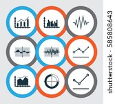 set of graphs  diagrams and... | Shutterstock .eps vector #585808643