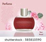perfume cosmetics and perfume... | Shutterstock .eps vector #585810590