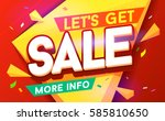 let's get sale banner. sale and ... | Shutterstock .eps vector #585810650