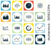 set of graphs  diagrams and... | Shutterstock .eps vector #585812396