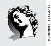 face vector art of a statue. | Shutterstock .eps vector #585816458