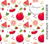 seamless vector background with ... | Shutterstock .eps vector #585818858
