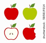red and green apples. vector...
