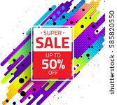 sale sign with abstract... | Shutterstock .eps vector #585820550
