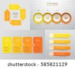 vector infographic set.... | Shutterstock .eps vector #585821129