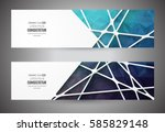 colorful mosaic banner.  info... | Shutterstock .eps vector #585829148
