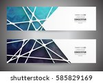 colorful mosaic banner.  info... | Shutterstock .eps vector #585829169