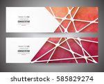 colorful mosaic banner.  info... | Shutterstock .eps vector #585829274