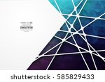 abstract geometric background... | Shutterstock .eps vector #585829433