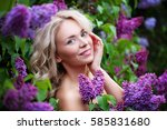 spa model woman with healthy... | Shutterstock . vector #585831680