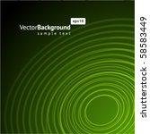 abstract green radio wave... | Shutterstock .eps vector #58583449