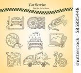 vector thin line pictogram...   Shutterstock .eps vector #585835448