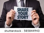 share your story | Shutterstock . vector #585844943
