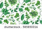 garden pattern nature. summer...   Shutterstock . vector #585850316