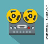 vintage reel to reel tape... | Shutterstock .eps vector #585852974