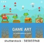 game art for mobile platformer...