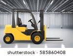 3d rendering forklift truck in... | Shutterstock . vector #585860408