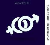 heterosexual vector illustration | Shutterstock .eps vector #585864548