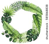 exotic wreath with vivid... | Shutterstock . vector #585868838
