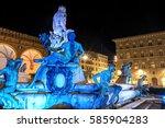 fountain of neptune | Shutterstock . vector #585904283