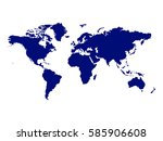 vector map of the world | Shutterstock .eps vector #585906608